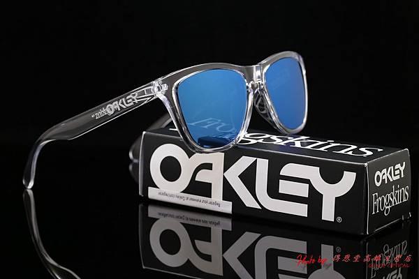OAKLEY FROGSKINS ASIAN FIT OO9245-05 太陽眼鏡&近視有度數藍水銀鏡片
