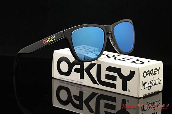 OAKLEY FROGSKINS 24-325 & 近視有度數藍水銀鏡片