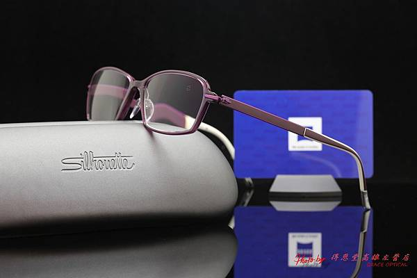 ZEISS蔡司3D新極品Asiana煥視變色鑽立方鉑金鍍膜鏡片&Silhouette詩樂眼鏡SPX眼鏡