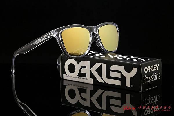 OAKLEY FROGSKINS ASIAN FIT OO9245-05 太陽眼鏡&近視有度數偏光金色水銀鏡片