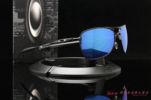 OAKLEY CROSSHAIR OO4060-11 & 高階SPORT近視有度數偏光藍鍍膜太陽眼鏡鏡片