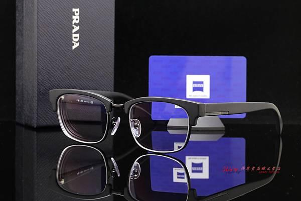 PRADA 12RV 1BO1O1 復古時尚款精品眼鏡 & ZEISS蔡司 煥視變色鑽立方鉑金鍍膜鏡片