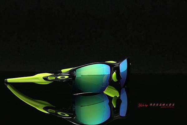 OAKLEY FLAK 2.0 XL OO9188-09 & 高階SPORT偏光彩色綠水銀近視有度數鏡片 高雄得恩堂左營店