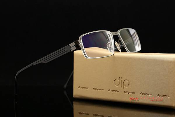 法國依視路 e-Lens 抗藍光紓壓鏡片 & dip薄鈦無螺絲眼鏡 高雄得恩堂左營店