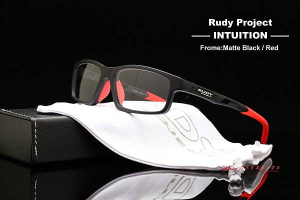 Rudy Project INTUITION Matte Black- Red 光學眼鏡 高雄得恩堂左營店