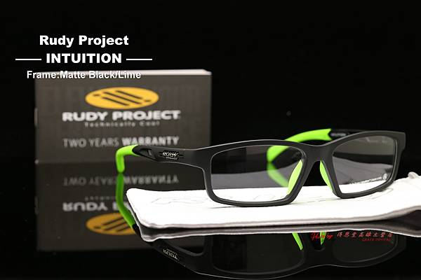Rudy Project INTUITION Matte Black- Lime 光學眼鏡 高雄得恩堂左營店