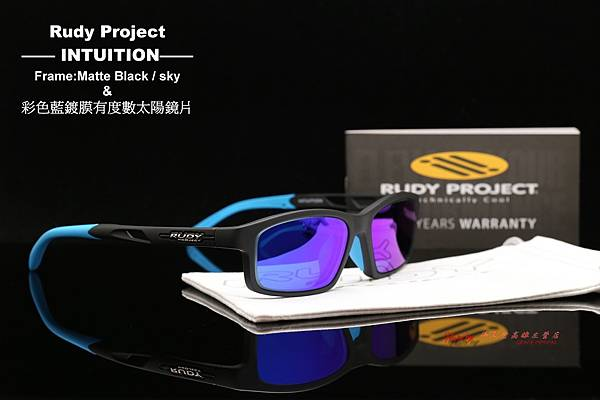 Rudy Project INTUITION Matte Black- Sky 光學眼鏡 & 彩色藍鍍膜近視有度數鏡片 高雄得恩堂左營店