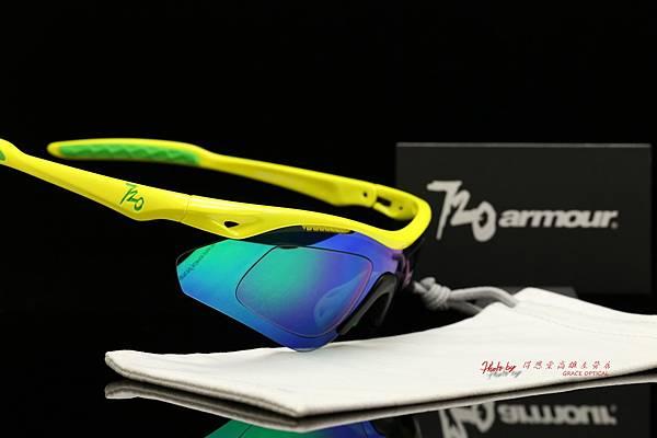 720armour Analog 近視有度數彩色綠鍍膜偏光運動型太陽眼鏡 高雄得恩堂左營店