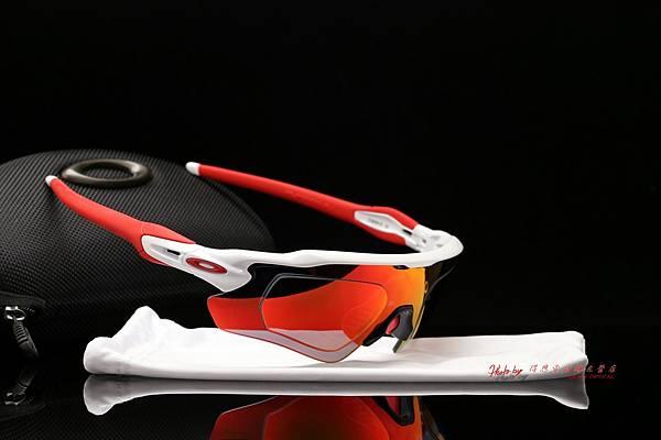 OAKLEY RADAR EV PATH 運動型太陽眼鏡 & 高階SPORT彩色紅鍍膜偏光運動型鏡片