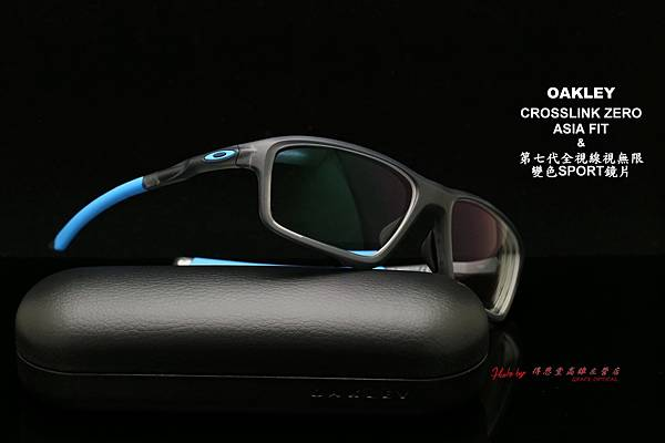 OAKLEY CROSSLINK ZERO OX8080-01 ASIA FIT & 第七代全視線視無限變色sport鏡片