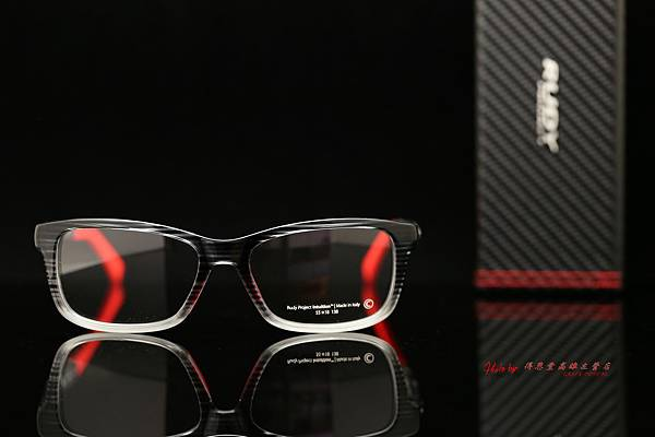 Rudy Project INTUITION Black Streaked-Red 光學眼鏡 高雄得恩堂左營店