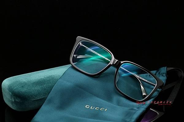 GUCCI Eyewear GG0019OA 001 光學眼鏡 高雄得恩堂左營店