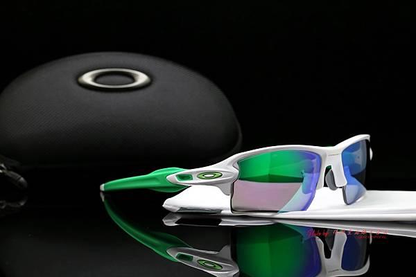 OAKLEY FLAK 2.0 XL OO9188-6359 & 客製化SPORT偏光彩色綠水銀近視有度數鏡片 高雄得恩堂左營店