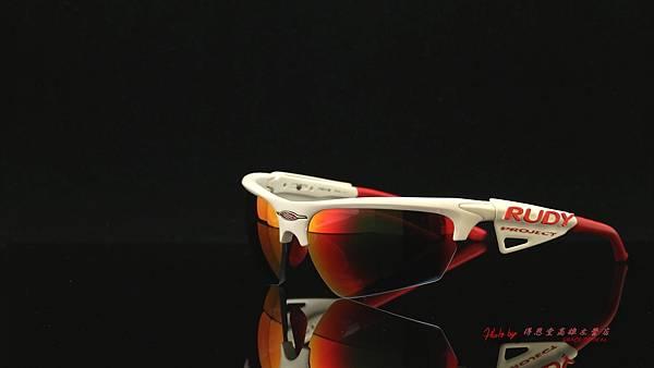 Rudy Project NOYZ & 客製化SPORT偏光紅鍍膜近視度數鏡片
