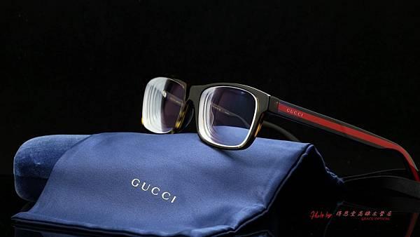 GUCCI Eyewear GG0006OA 003 光學眼鏡 高雄得恩堂左營店