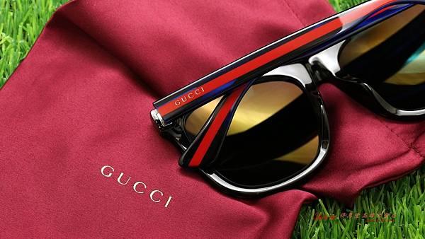 GUCCI Sunglass GG0057SK 004 太陽眼鏡 & 偏光粉紅Revo水銀鏡面度數太陽片