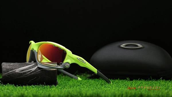 OAKLEY RACING JACKET & 客製化SPORT極致完美變色紅鍍膜近視運動鏡片