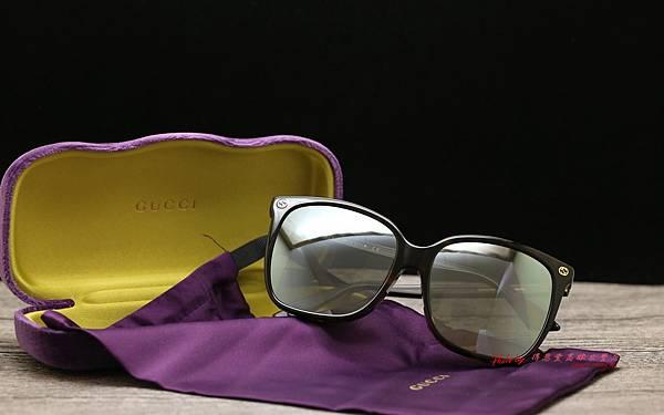 GUCCI Sunglass GG0022SA 003 & 偏光白水銀Revo近視太陽鏡片 高雄得恩堂左營店