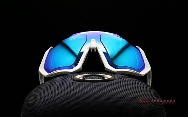 OAKLEY FLIGHT JACKET運動太陽眼鏡 & 客製化SPORT偏光彩色藍鍍膜運動鏡片