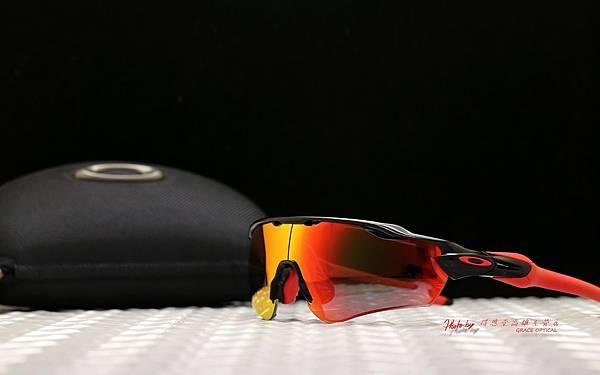 Oakley Radar EV & 客製化全視野SPORT近視有度數偏光紅Revo鏡片