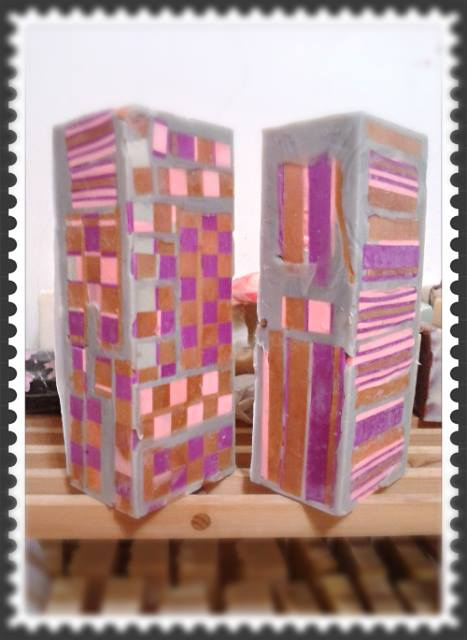 #435 紫草拼貼皂中皂#2~紫色山茶花之愛