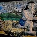 花東之旅-台東太麻里大王國小圍牆-排灣族原住民浮雕20161201