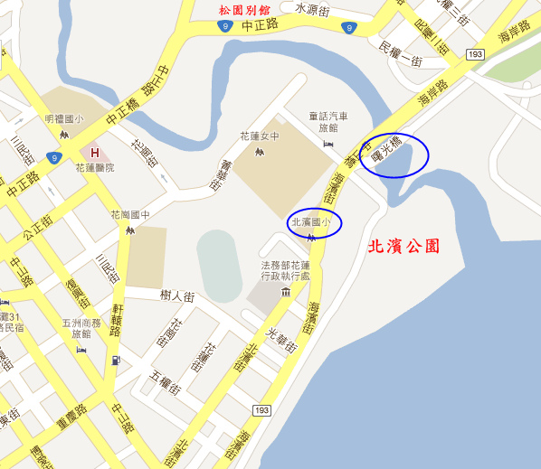 北濱公園地圖