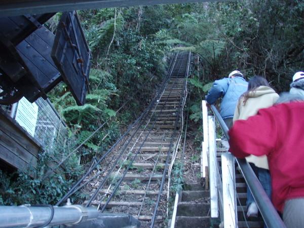 礦工火車的軌道~超陡的