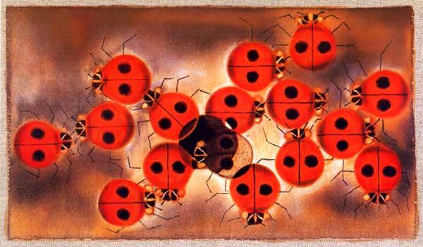 瓢蟲的婚禮(劉其偉,61 x 35 cm,1996,石版畫).jpg