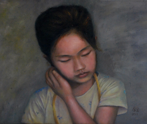 小女孩Sandy(油彩8F)1.JPG