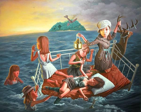 無聲之島 油畫 2011 227x182cm 150F.jpg