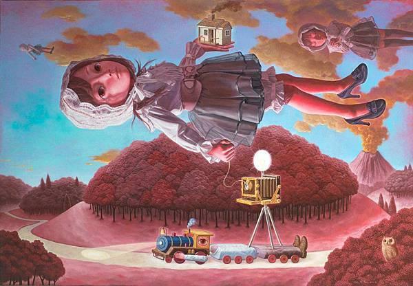 向未來前進 油畫 2011 162x112cm 100P.jpg