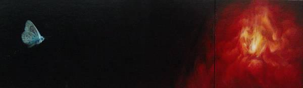 Desire(侯忠穎,油彩畫布(膠黏於木板), 17x40cm+17x17cm, 2012)