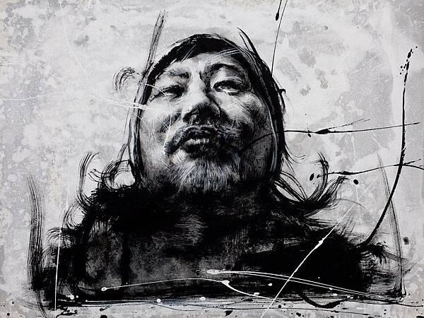 台灣召喚1-李民中 Taiwan calling1-Lee Min Jong 91X72.5cm 水墨 Ink 2012