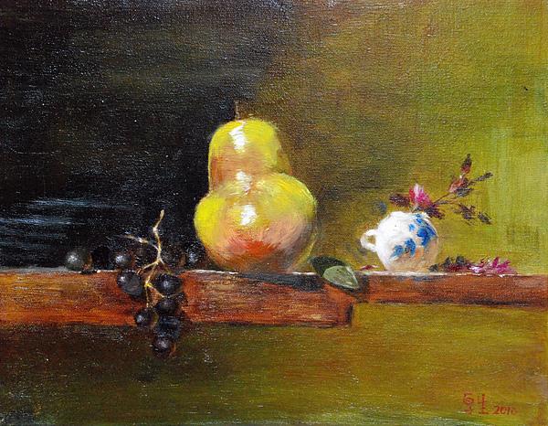 水果靜物(油彩5F,2010)35x27cm.JPG
