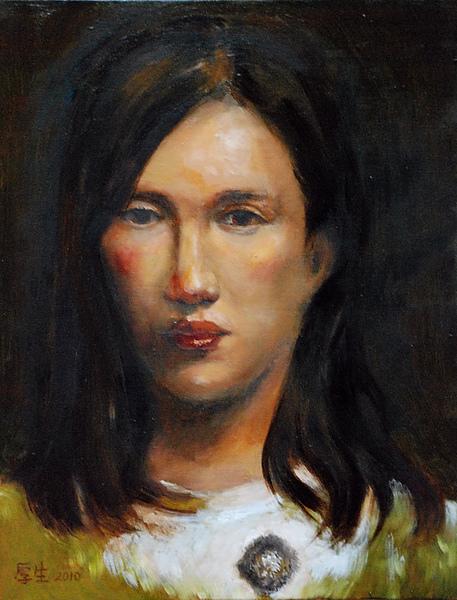 長髮女子肖像(油彩6F,2010)0001.JPG