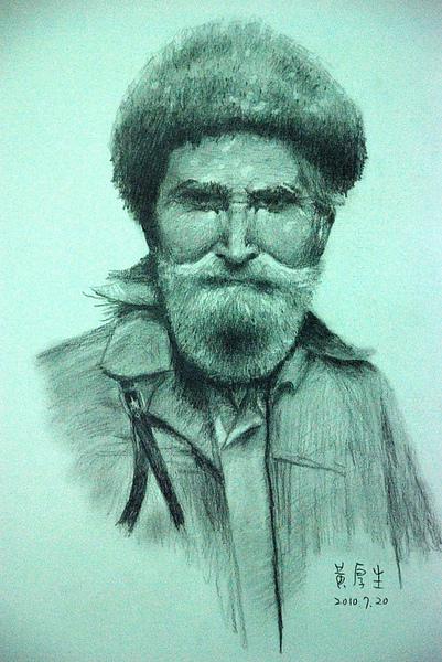 戴帽子的老人(鉛筆素描).JPG