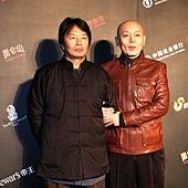 《一九四二》編劇劉震雲(右)與葛優.JPG