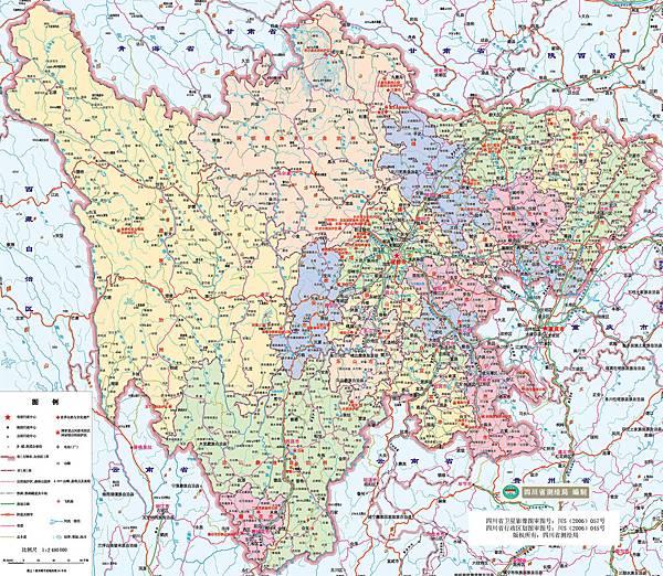 四川省地圖