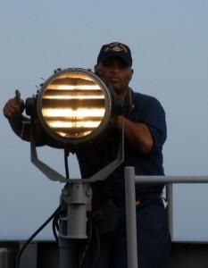 20090427_Seaman send Morse code signals.jpg