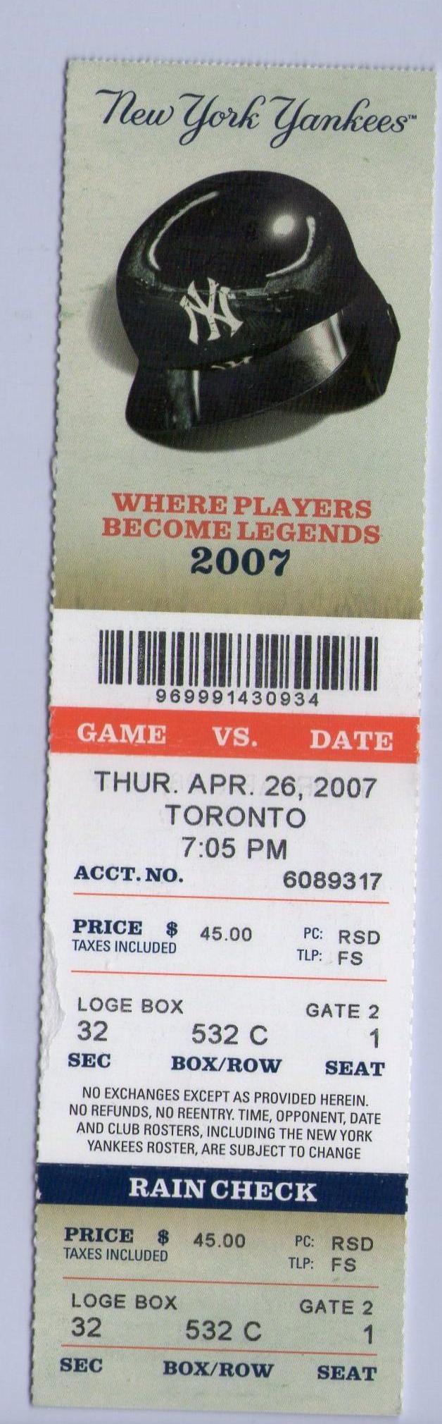 休斯2007年大聯盟初登板季票.jpg