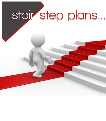 Stair-step-break-away-plan