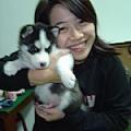 曉盈跟她的愛犬阿奇