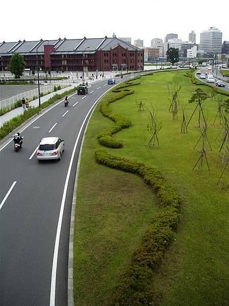 這裡的馬路跟東京也不同....好像寬一點
