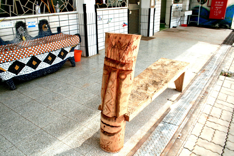 小朋友的木雕作品