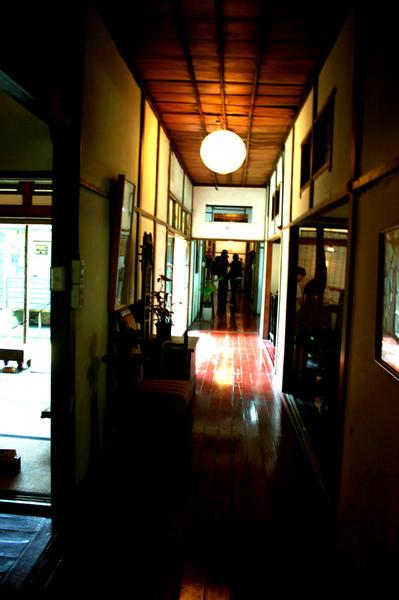 太子賓館的長廊...