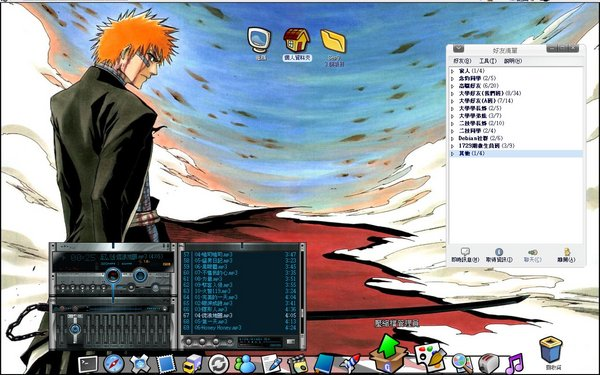 gnome2.10 + gdesklets + icandy icons + gartoon icons + bleach