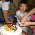 第一次自己切蛋糕