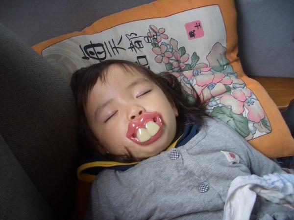 一上車馬上睡著