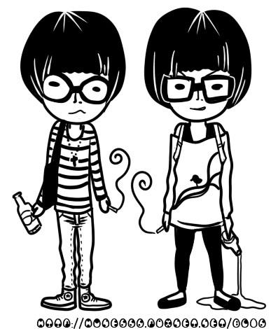 文青少年少女黑白.jpg
